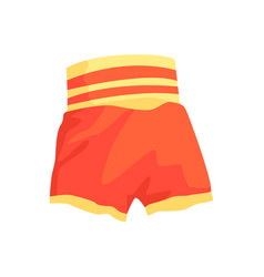 red boxing shorts clothing for athlete colorful vector image