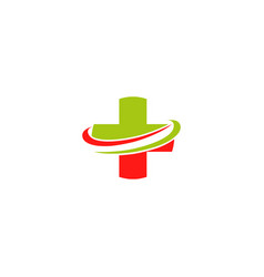 red green cross medical institutions for medical vector image