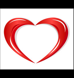 Red heart charity logo vector