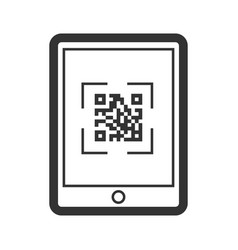 scaning qr code icon telephone business vector image