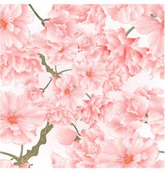 seamless texture twig tree sakura blossoms vector image
