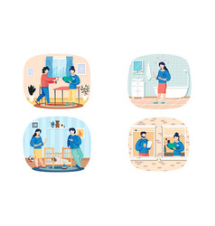 Set about communication people vector