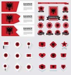 SET albania vector