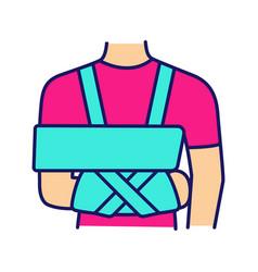 Shoulder immobilizer color icon vector