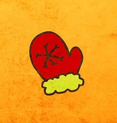 Snow Mittens Cartoon vector image