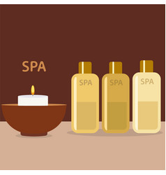 spa therapy and beauty set of vector image
