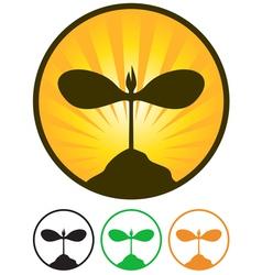 sprout emblem vector image