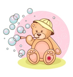 Teddy Baby bubbles vector image