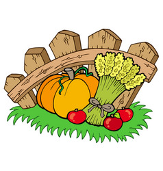 Thanksgiving motive with harvest vector