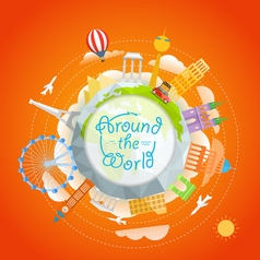 Travel around the world concept Template for a vector image
