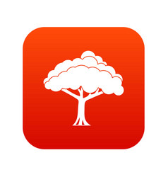 tree icon digital red vector image