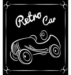 vehicle retro silhouette vector image