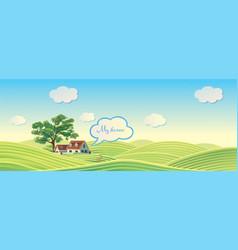 Village 02 summer vector