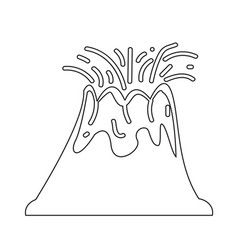 volcano icon design vector image