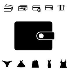 Wallet or pocketbook icon vector
