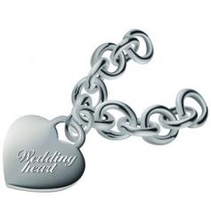 wedding heart silver vector image