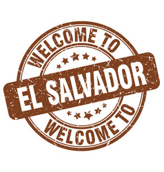 Welcome to el salvador brown round vintage stamp vector