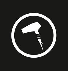 white hairdryer on black background illust vector image