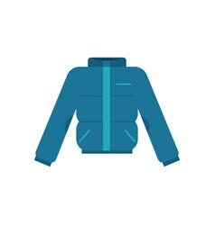 Winter blown jacket in flat vector