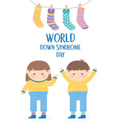 world down syndrome day happy children vector image