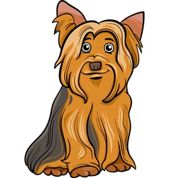 Yorkshire terrier dog cartoon vector