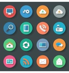 Communication icons set flat design vector image