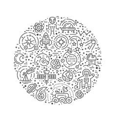 cosmos round concept vector image