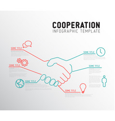 Infographic cooperation template vector