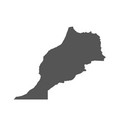morocco map black icon on white background vector image vector image