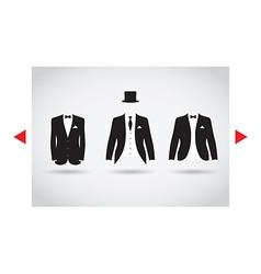posh suit selection vector image