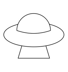 ufo saucer space flying outline vector image vector image
