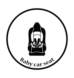 Baby car seat icon vector image