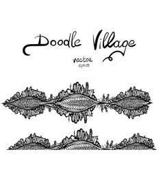 doodle squirrel vector image