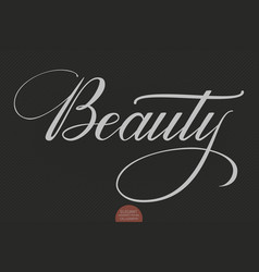 hand drawn lettering beauty elegant vector image vector image