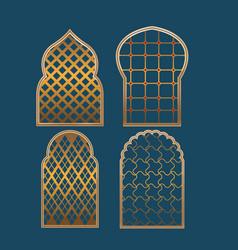 muslim window border collection set vector image vector image