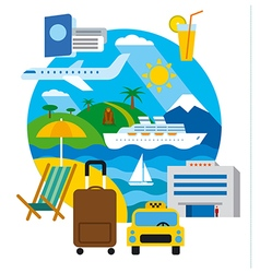 travel and resort vector image