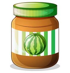 A jar of watermelon jam vector image vector image