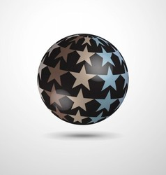 Ball with stars vector image vector image