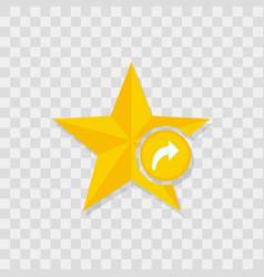 star icon arrow forward icon vector image vector image