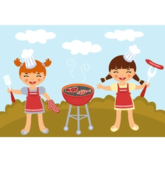 BBQ party vector image