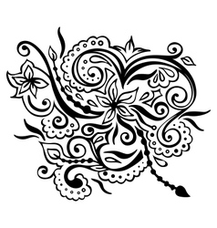 flower pattern on white background vector image vector image