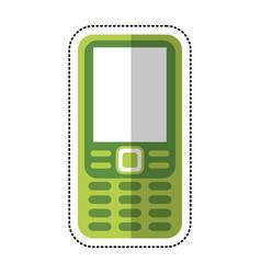 smartphone mobile technology retro vector image