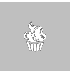 Sweet cupcake computer symbol vector image