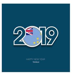 2019 tuvalu typography happy new year background vector
