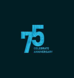 75 year anniversary aqua color template design vector