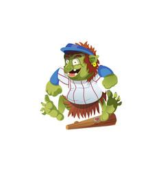 A baseball troll celebrating vector