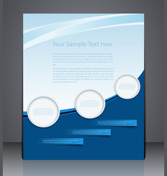 Abstract layout flyer magazine cover vector