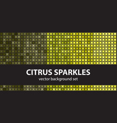abstract pattern set citrus sparkles seamless vector image