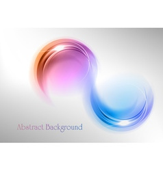 abstract shape smoke double white blue purple vector image