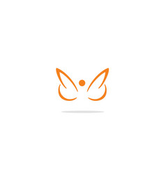 Abstract wing fly logo vector